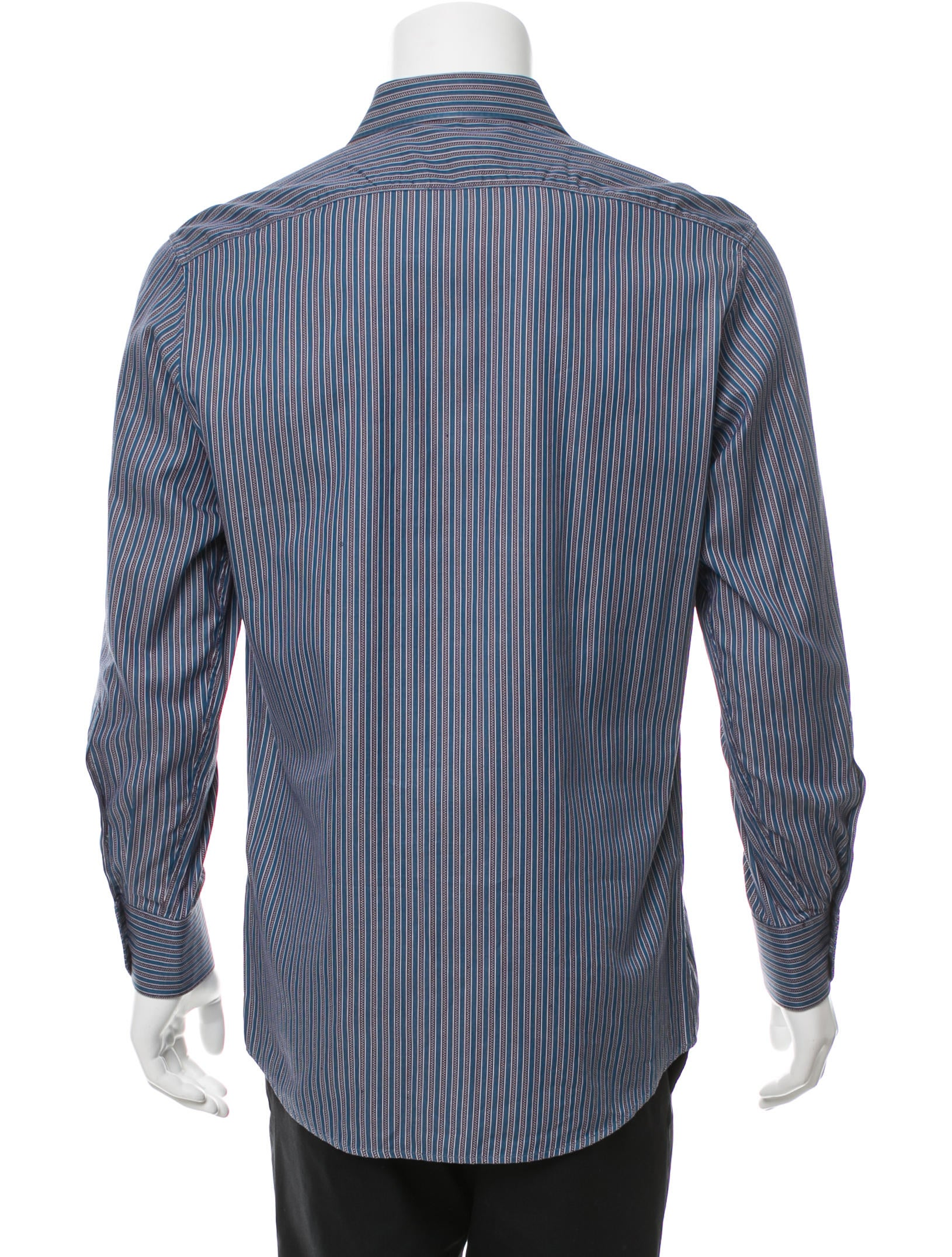 Gucci striped button up shirt clothing guc157689 the for Striped button up shirt mens