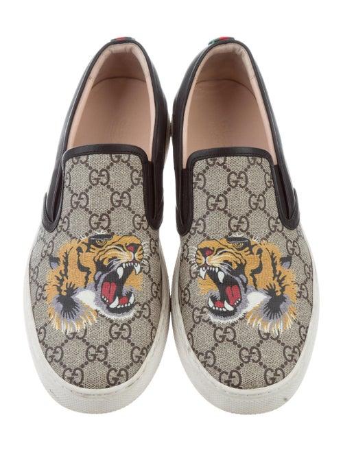 5e1f5e2cd7ded Gucci Supreme Tiger Slip-On Sneakers - Shoes - GUC158583
