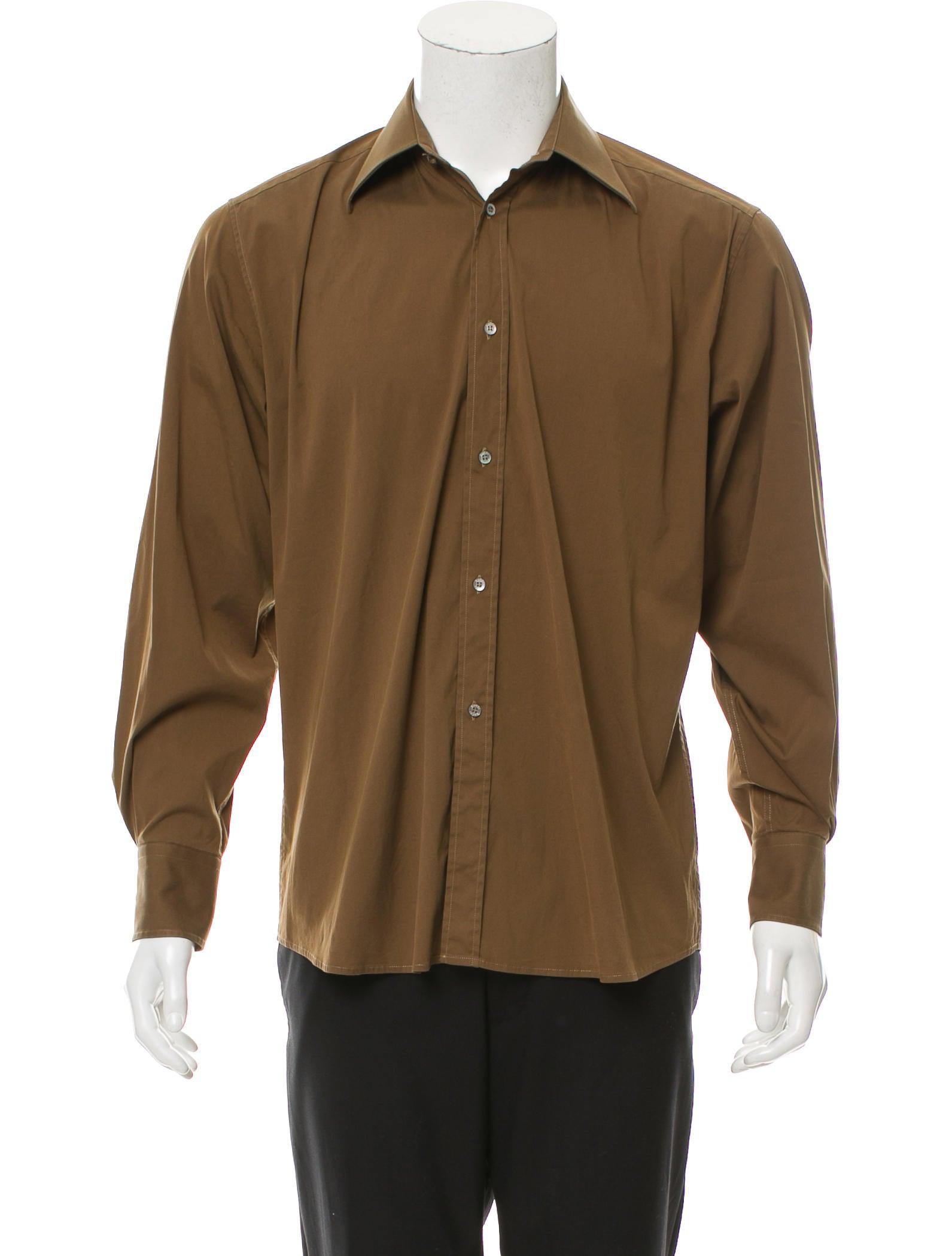 Gucci Long Sleeve Button Up Shirt Clothing Guc159407