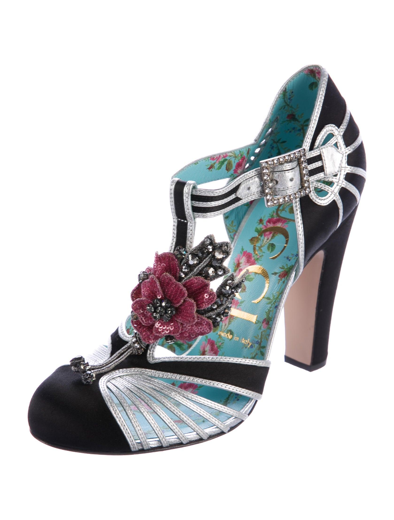 gucci 2017 mariska t strap pumps shoes guc159519 the realreal. Black Bedroom Furniture Sets. Home Design Ideas