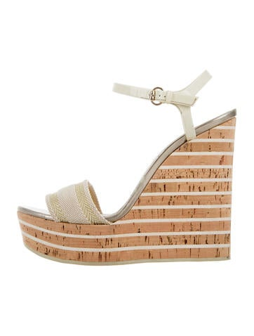 Gucci Woven Platform Wedges None