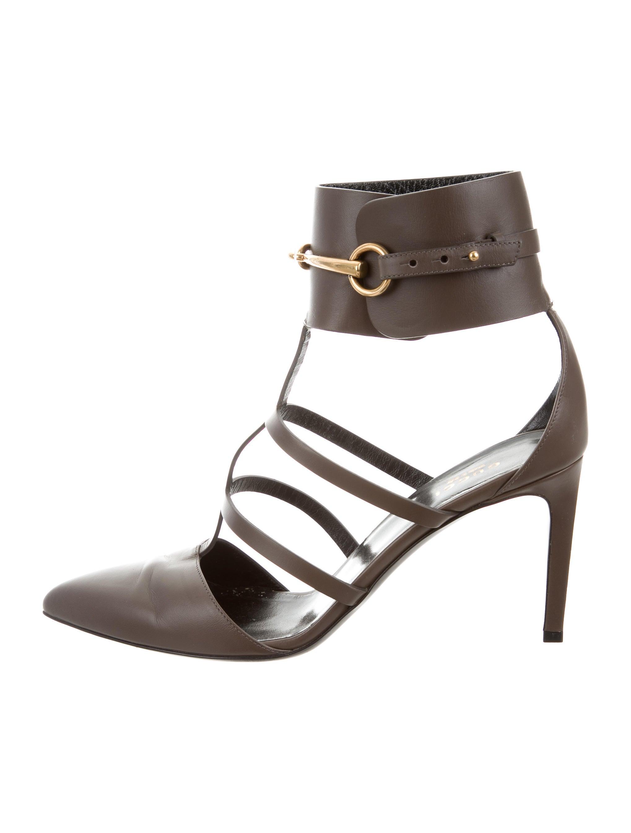 ef4d1af7dd6 Gucci Ursula Horsebit Cage Pumps - Shoes - GUC159746