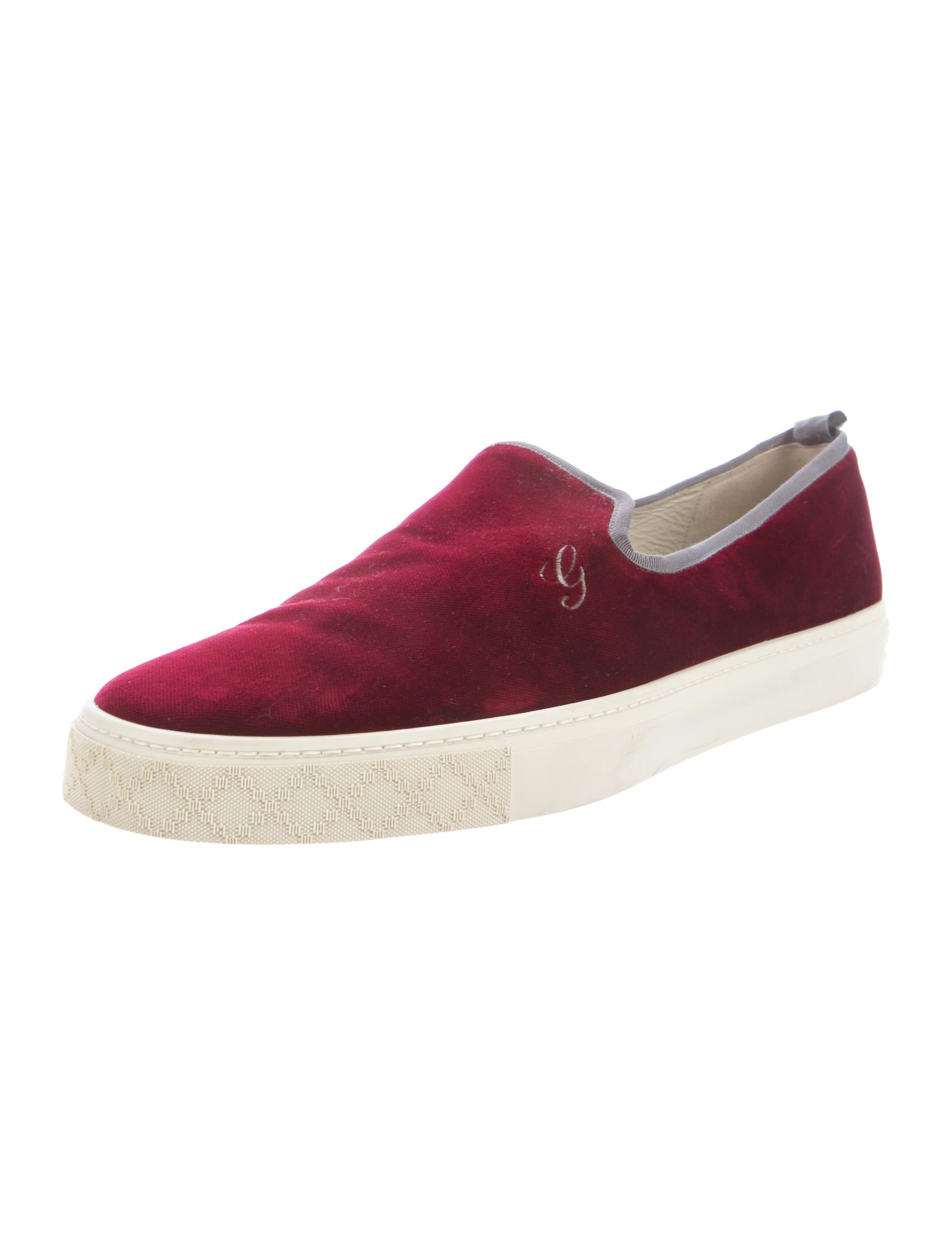gucci velvet slip on sneakers shoes guc159747 the