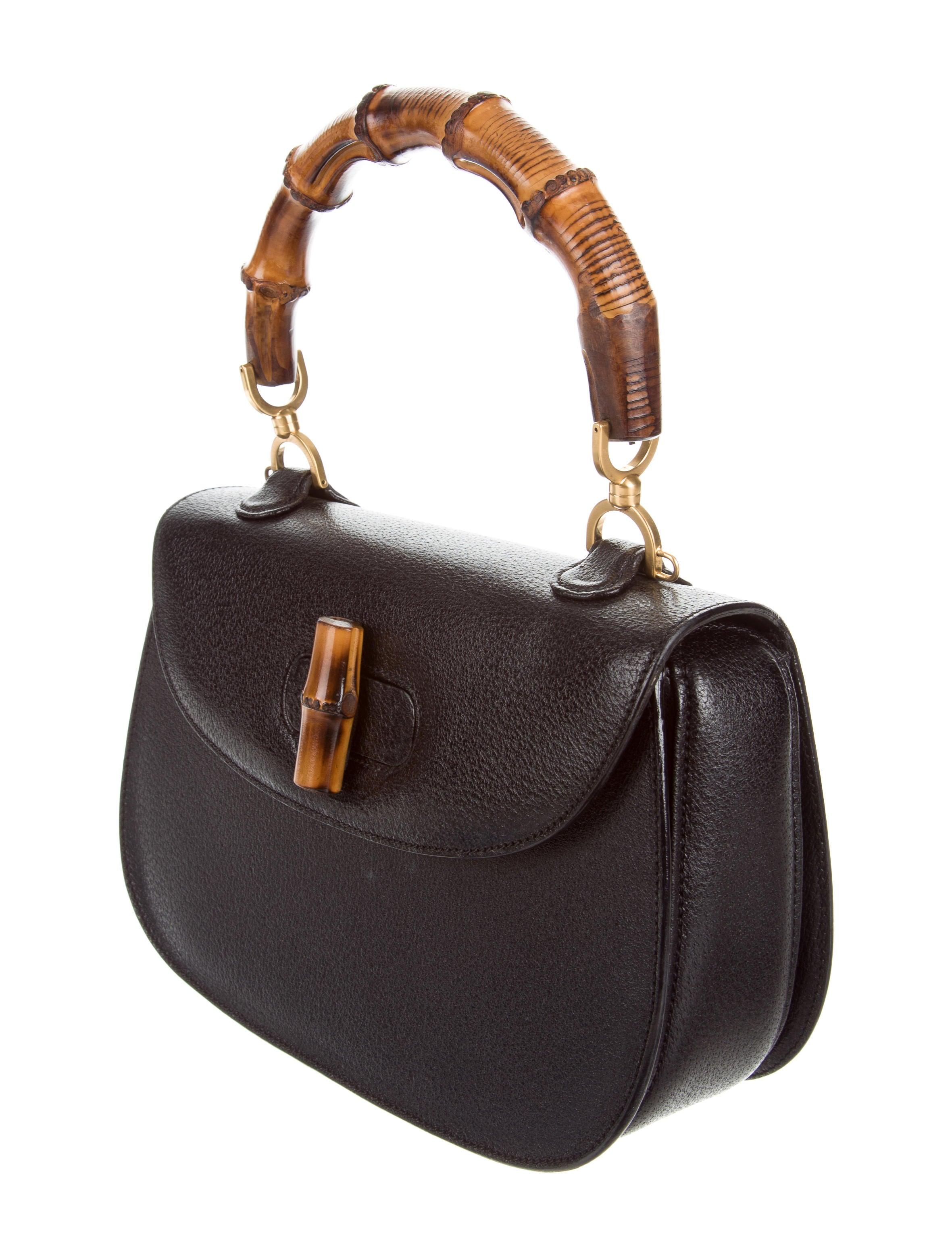 40b36916bd12 Gucci Vintage Bamboo Top Handle Bag - Handbags - GUC160293 | The RealReal