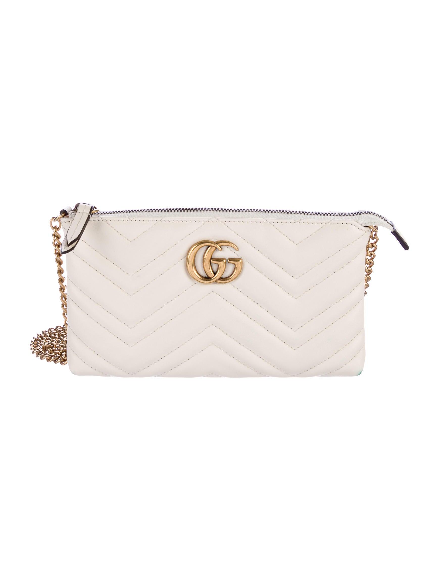b2065f610fa9 Gucci 2017 GG Marmont Mini Chain Bag - Handbags - GUC160531 | The ...