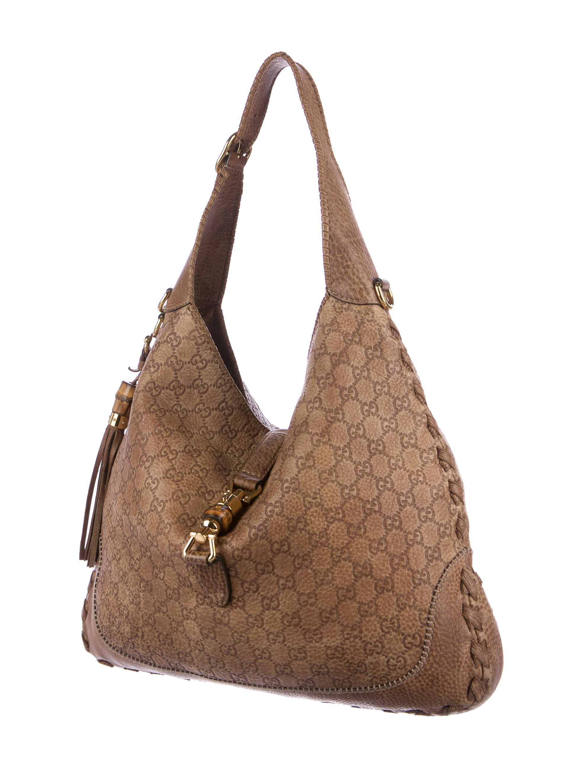c8c5c0b7851b83 Gucci Guccissima New Jackie Bag - Handbags - GUC160628 | The RealReal