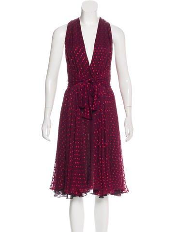 Gucci Sleeveless Silk Dress None