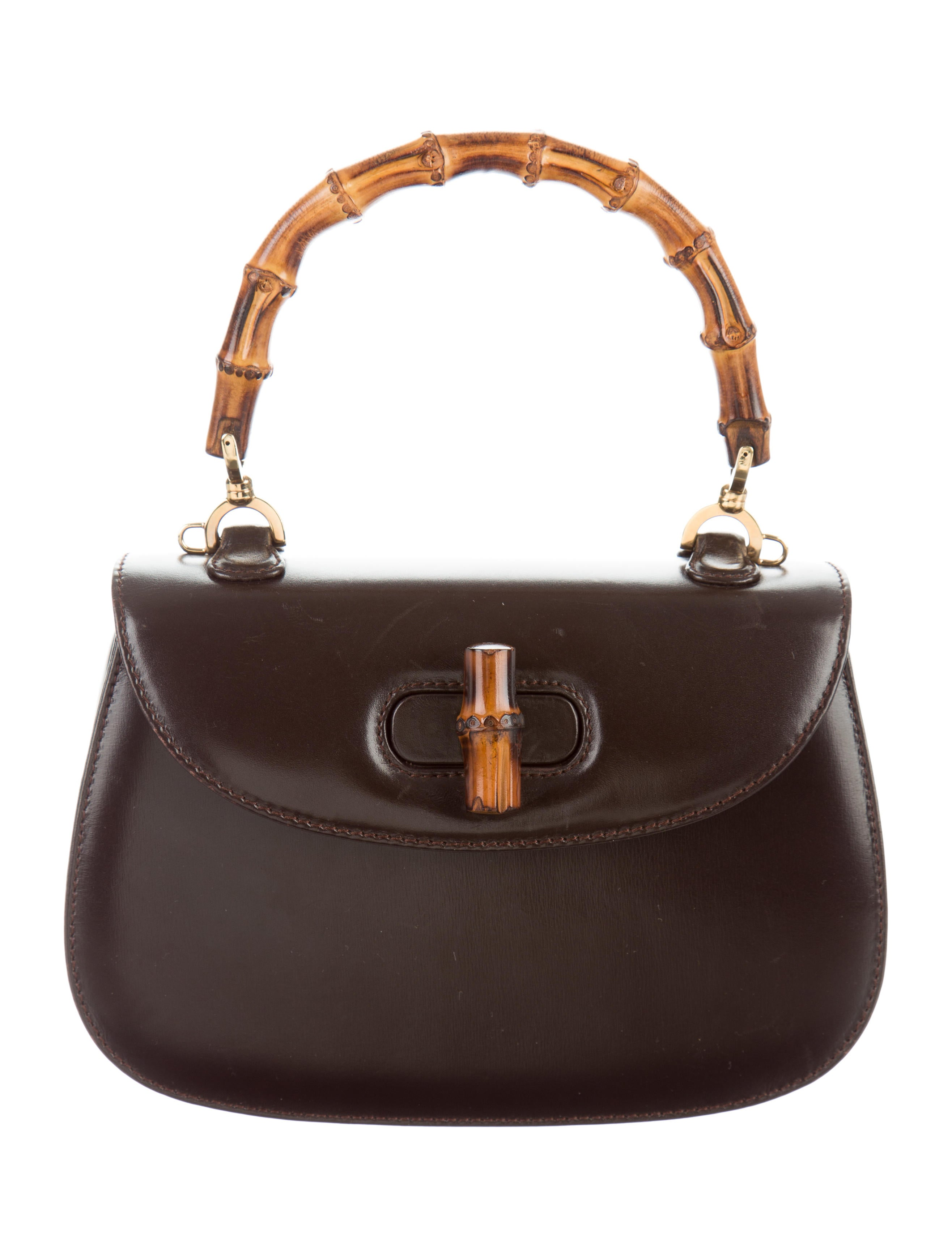 290c86a8e713 Gucci Vintage Bamboo Top Handle Bag - Handbags - GUC160857 .