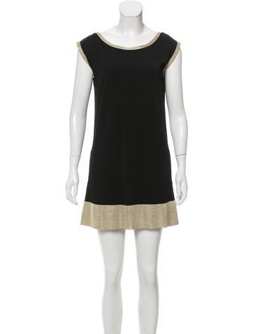 Gucci Metallic-Trimmed Mini Dress None