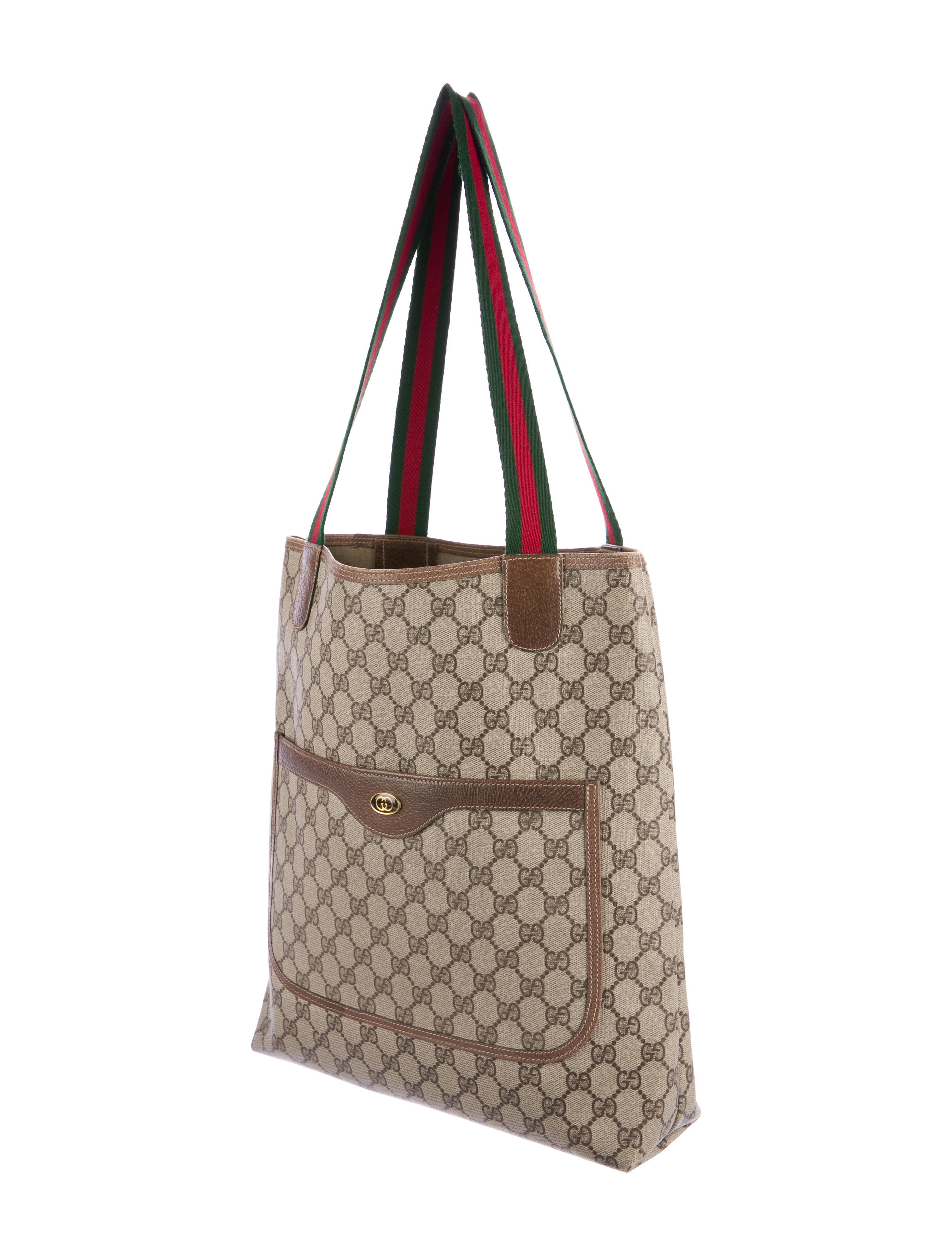 3bfd36c1bd10 Gucci Vintage GG Plus Tote - Handbags - GUC161267 | The RealReal. Vintage GUCCI  Coated Canvas ...