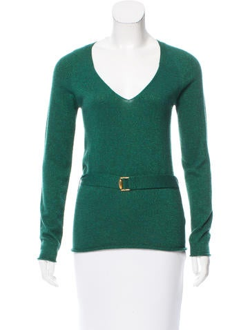 Gucci Metallic Cashmere Sweater None