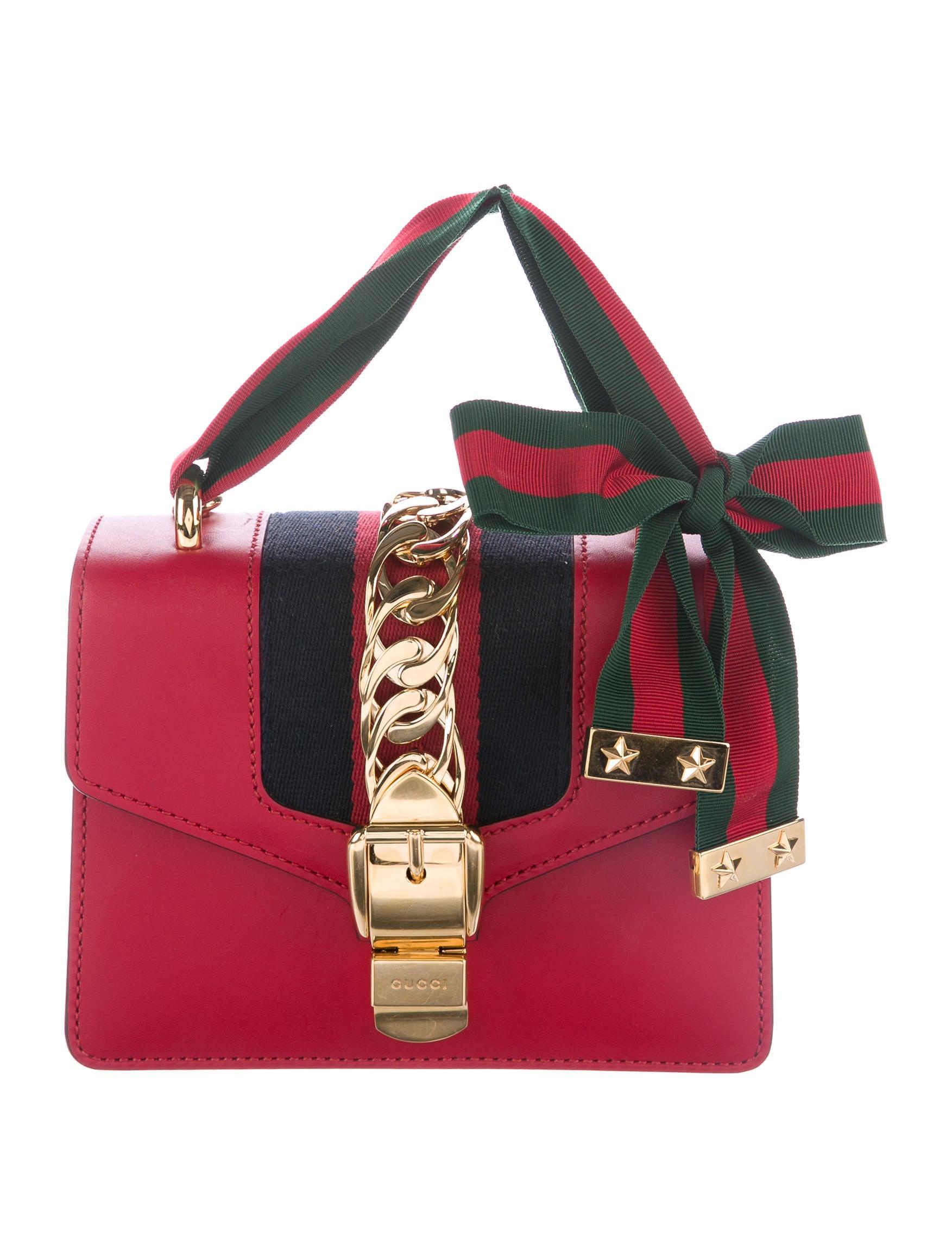 55dab2e8fc74 Gucci 2017 Mini Sylvie Chain Bag - Handbags - GUC161573 | The RealReal