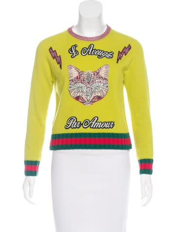 Gucci 2017 Embellished Wool Sweater None