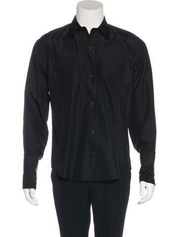 Gucci silk french cuff tuxedo shirt clothing guc161945 for Tuxedo shirt french cuff