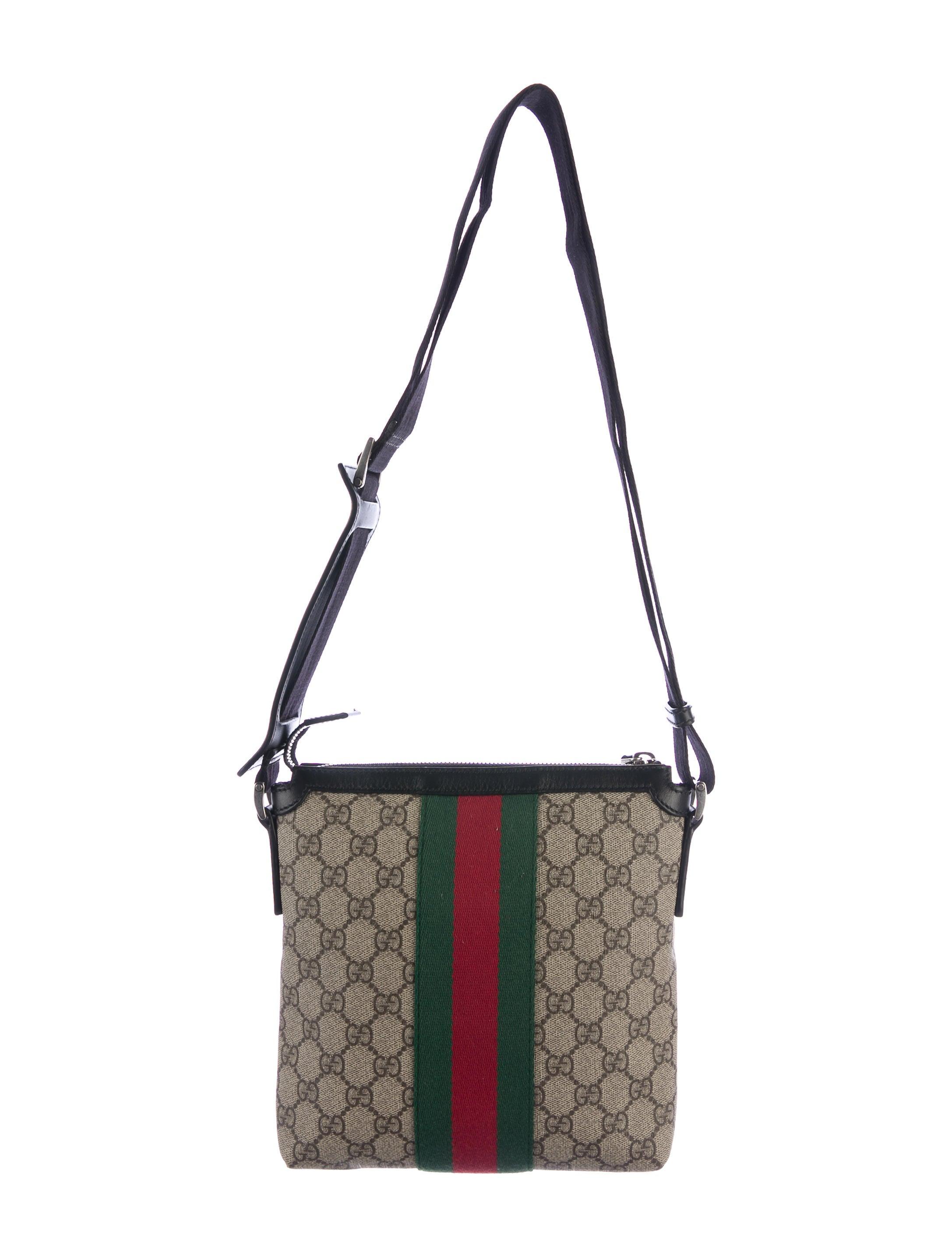 Gucci Web Gg Supreme Flat Messenger Bag Bags Guc162009