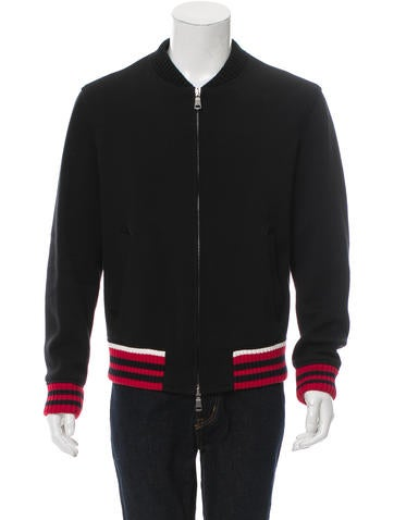Gucci 2017 Jersey Bomber Jacket None