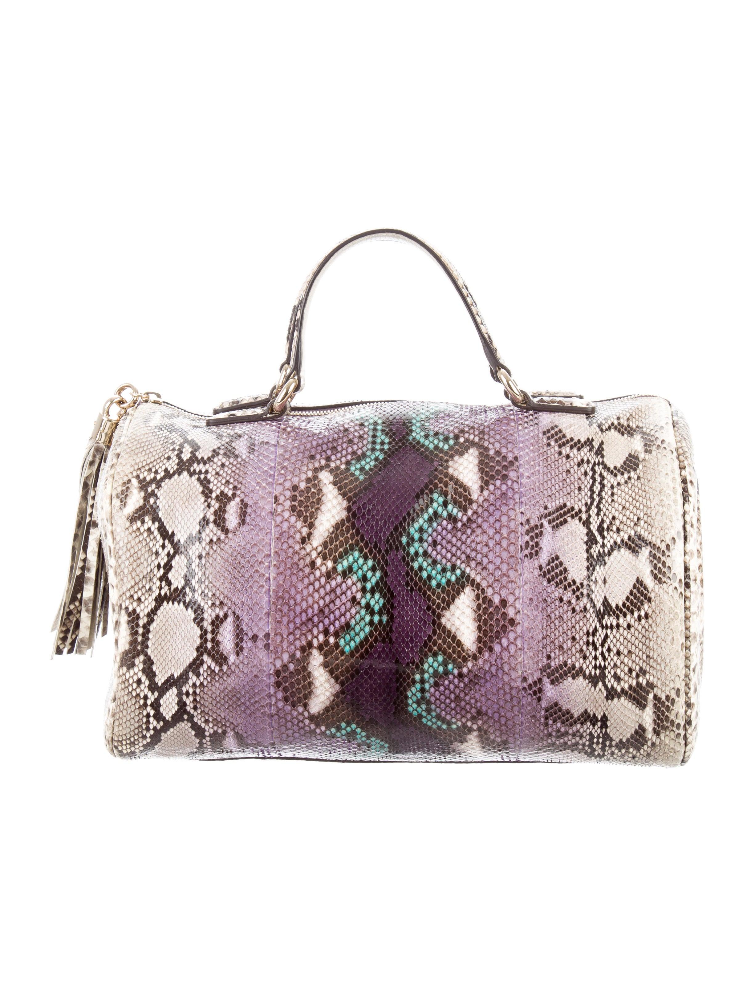 Boston Bag Patchwork Tutorial: Gucci Python Soho Boston Bag - Handbags - GUC162948