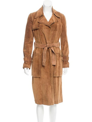 Gucci Belted Suede Coat None