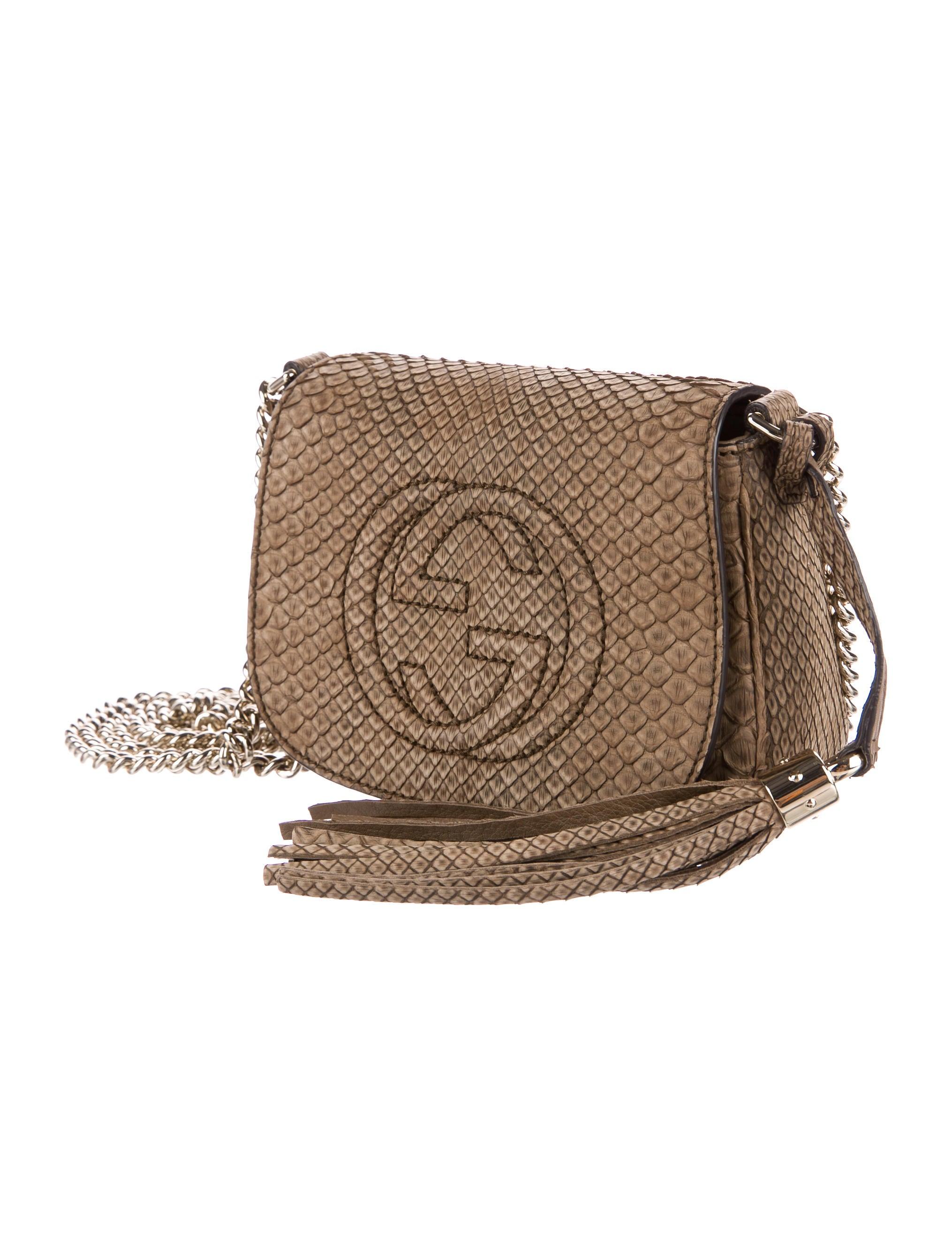 e994b47ed33a Gucci Python Soho Chain Crossbody Bag - Handbags - GUC163309 | The RealReal