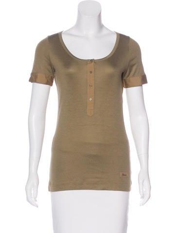 Gucci Rib Knit Short Sleeve T-shirt None