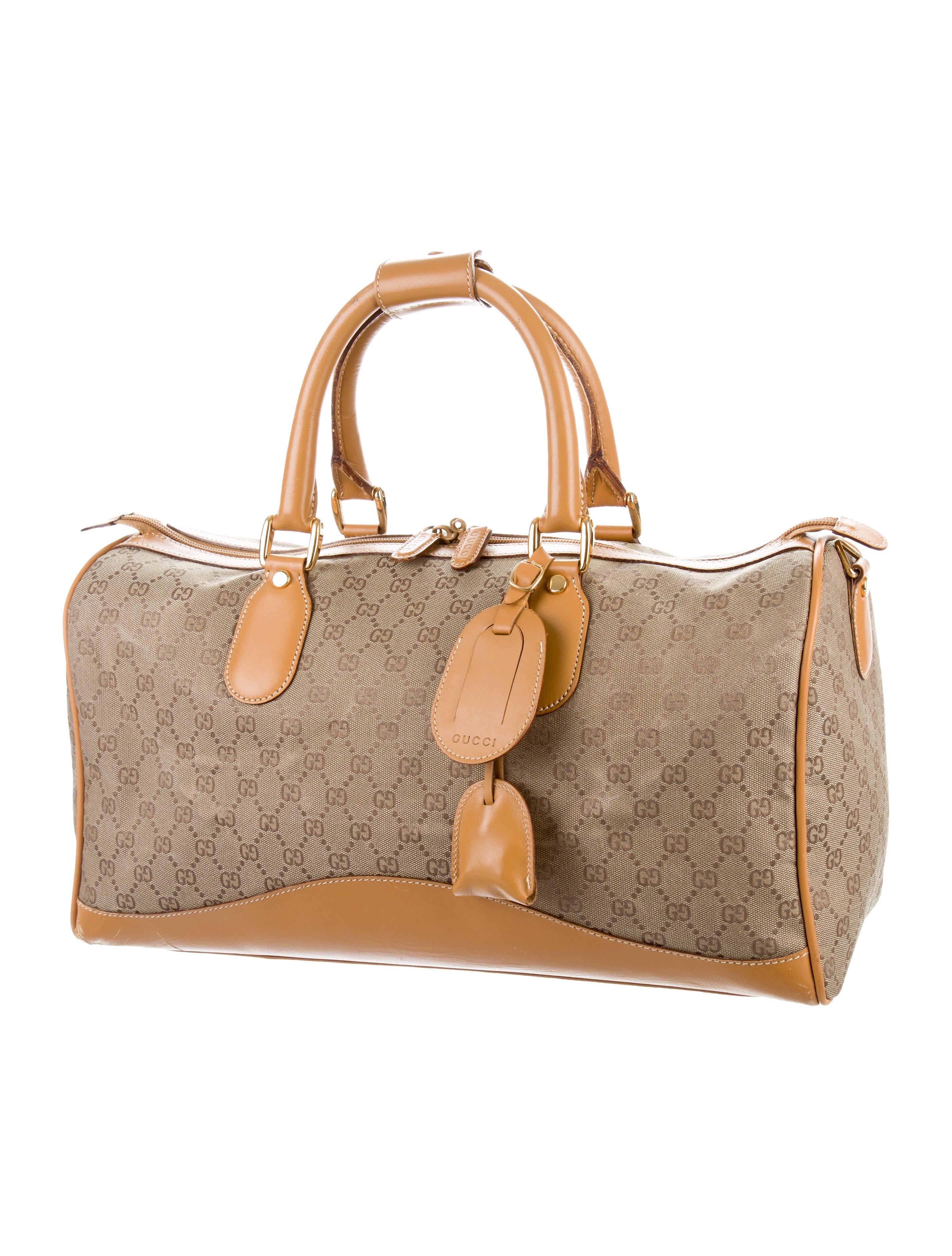 239263360e7f87 Gucci Vintage GG Weekender - Handbags - GUC163540 | The RealReal