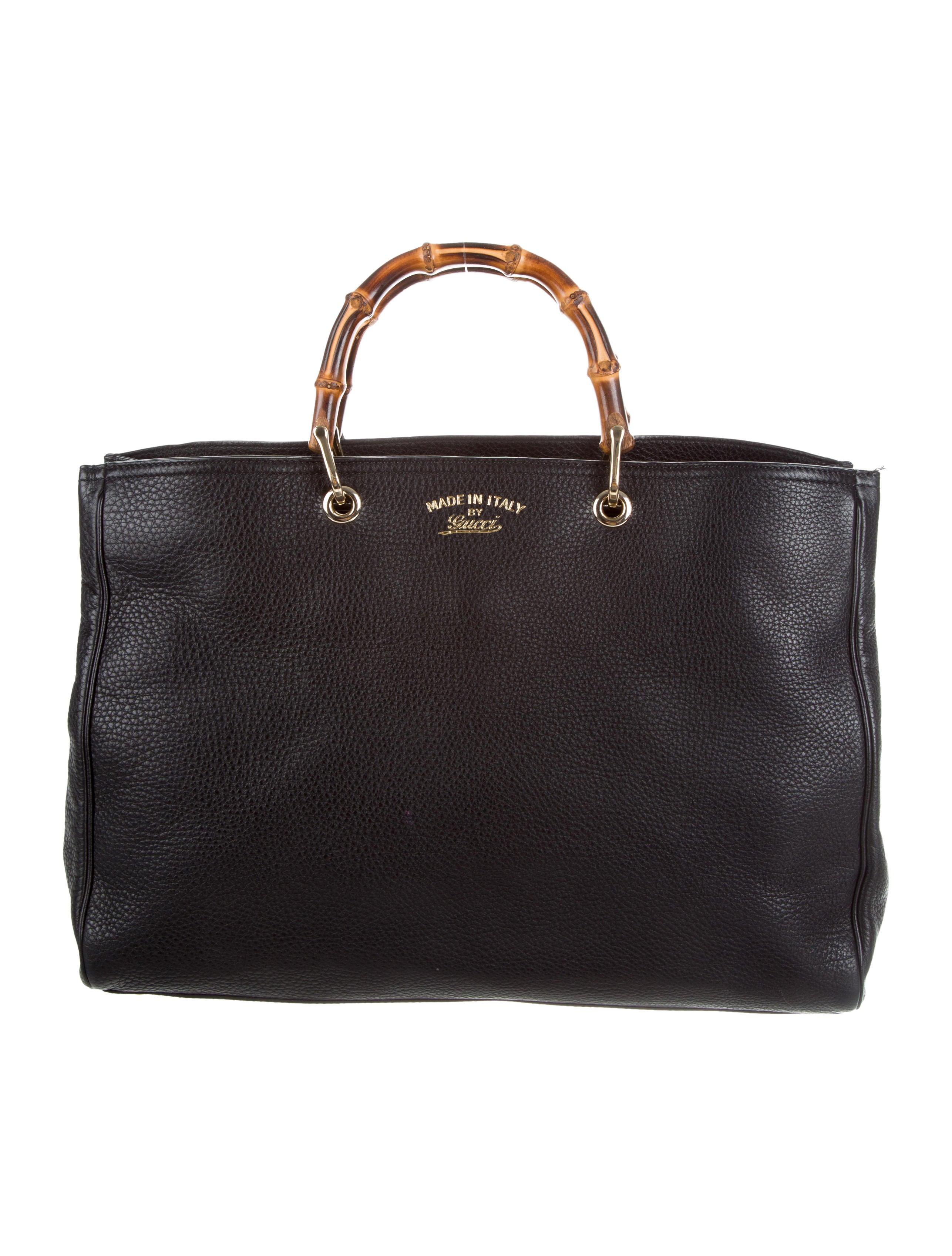 gucci large bamboo shopper tote handbags guc163551 the realreal. Black Bedroom Furniture Sets. Home Design Ideas