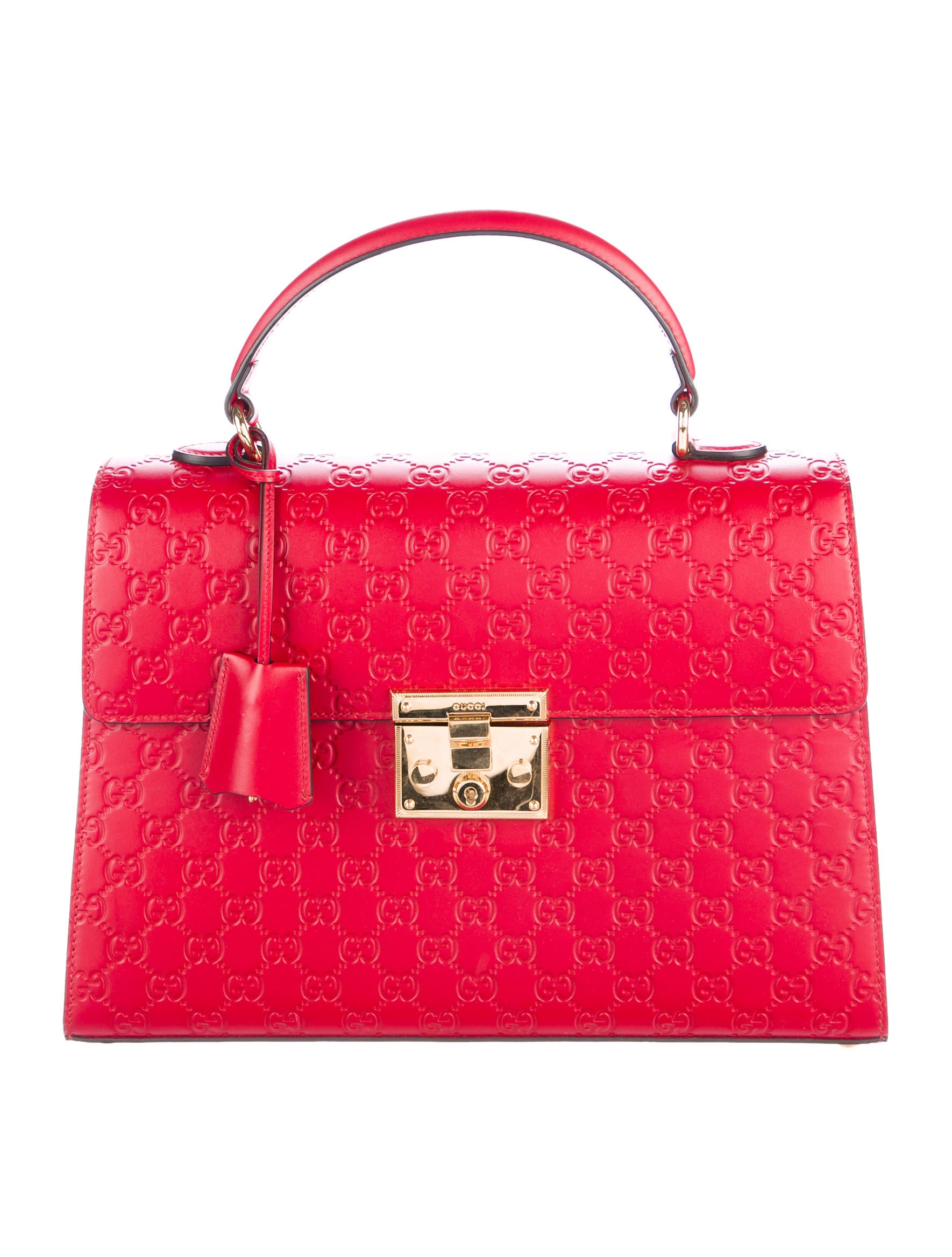 3776b4a37bc1 Gucci Medium Padlock Signature Top Handle Bag - Handbags - GUC163651 | The  RealReal