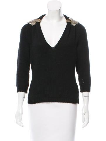Gucci Cashmere & Wool-Blend Sweater None