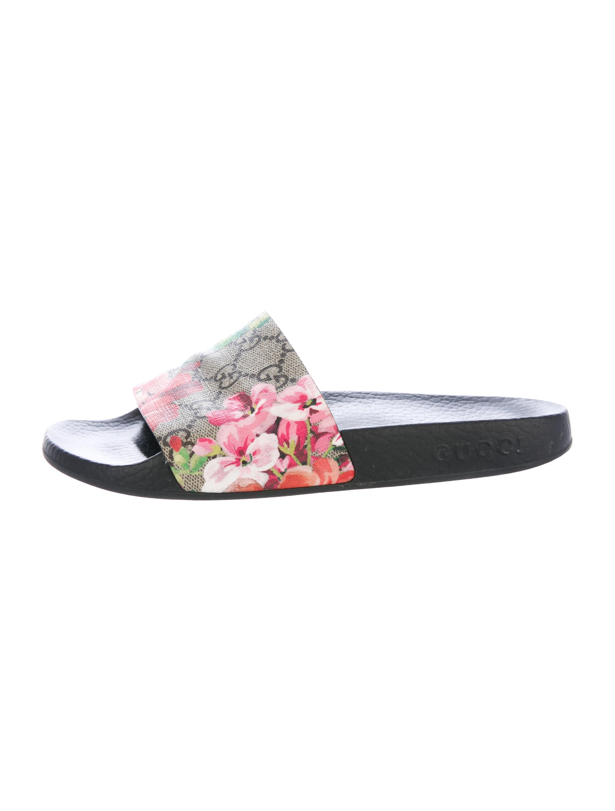 daa3fb541ad Gucci 2016 GG Blooms Slide Sandals - Shoes - GUC163999