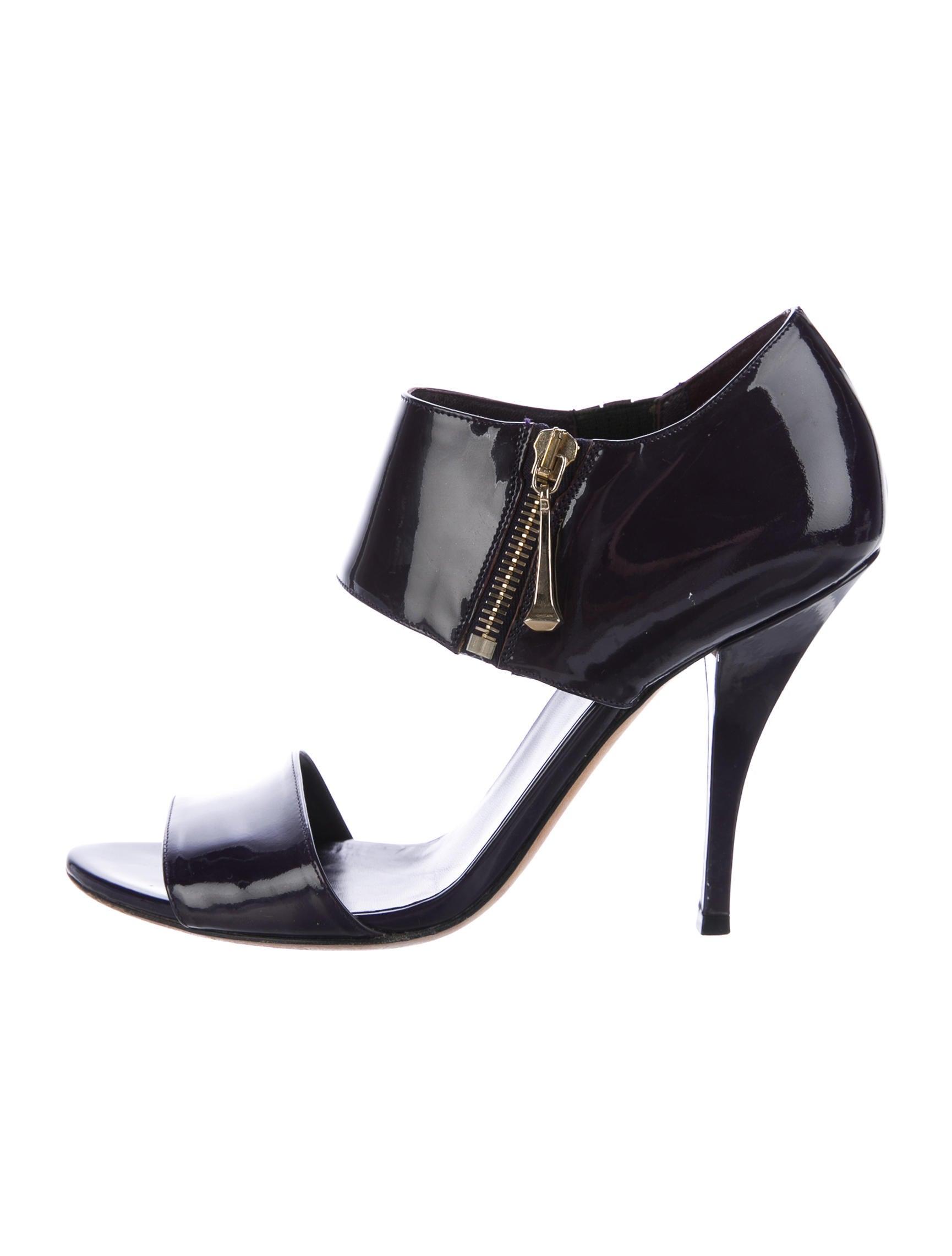 Patent Leather Zipper Sandals