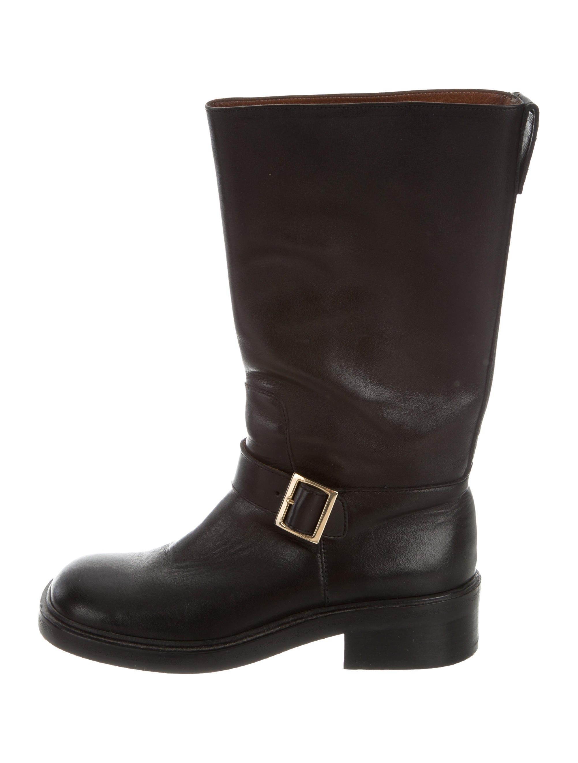 gucci leather mid calf boots shoes guc164167 the