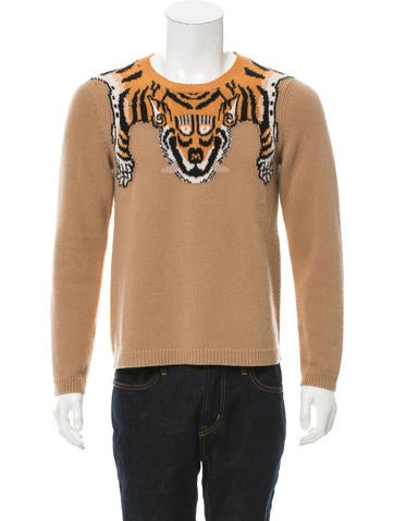 Gucci 2017 Tiger Wool Intarsia Sweater None