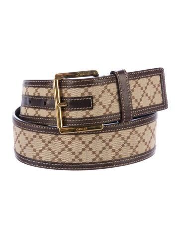gucci canvas leather belt accessories guc164627