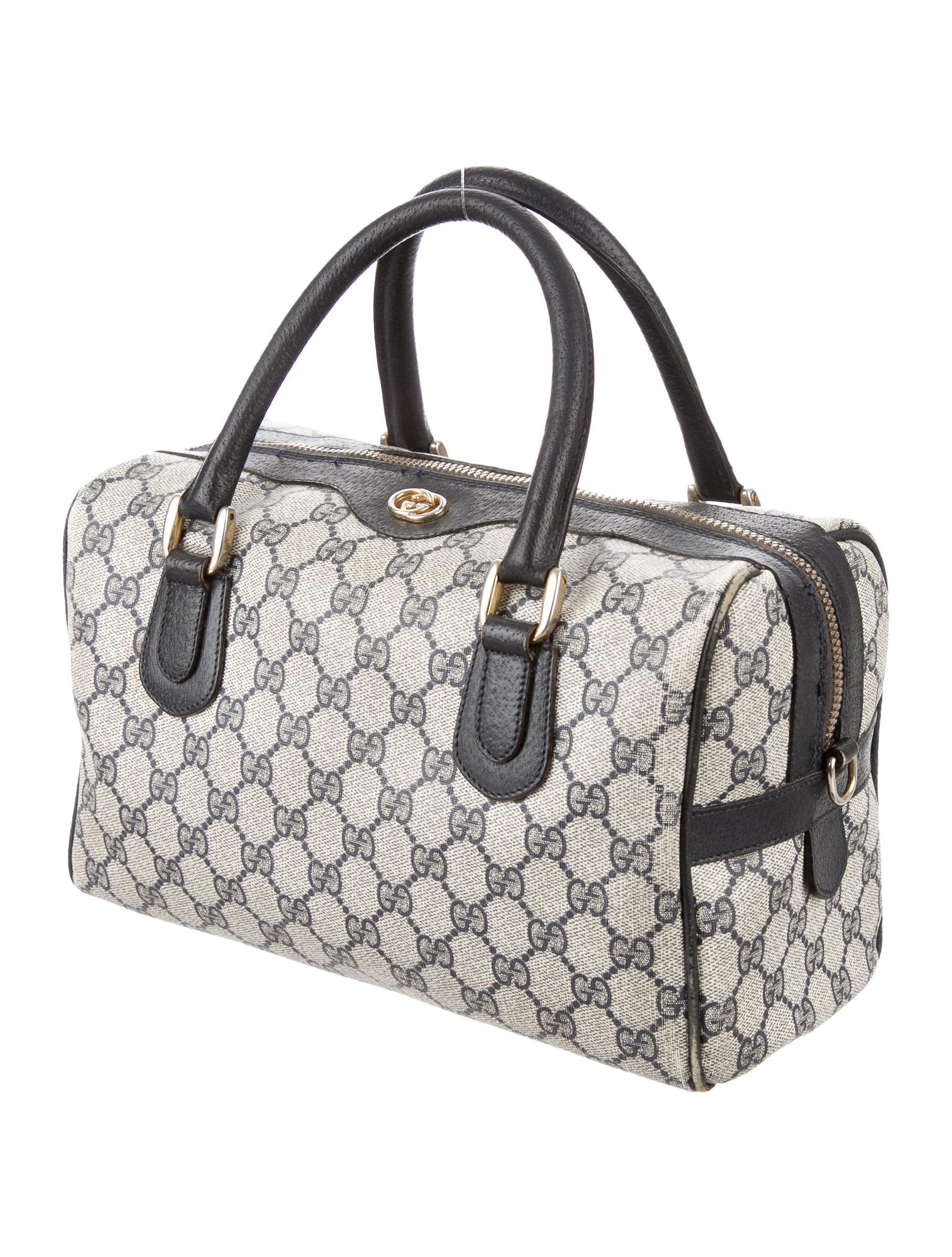 Boston Bag Patchwork Tutorial: Gucci Vintage GG Plus Boston Bag