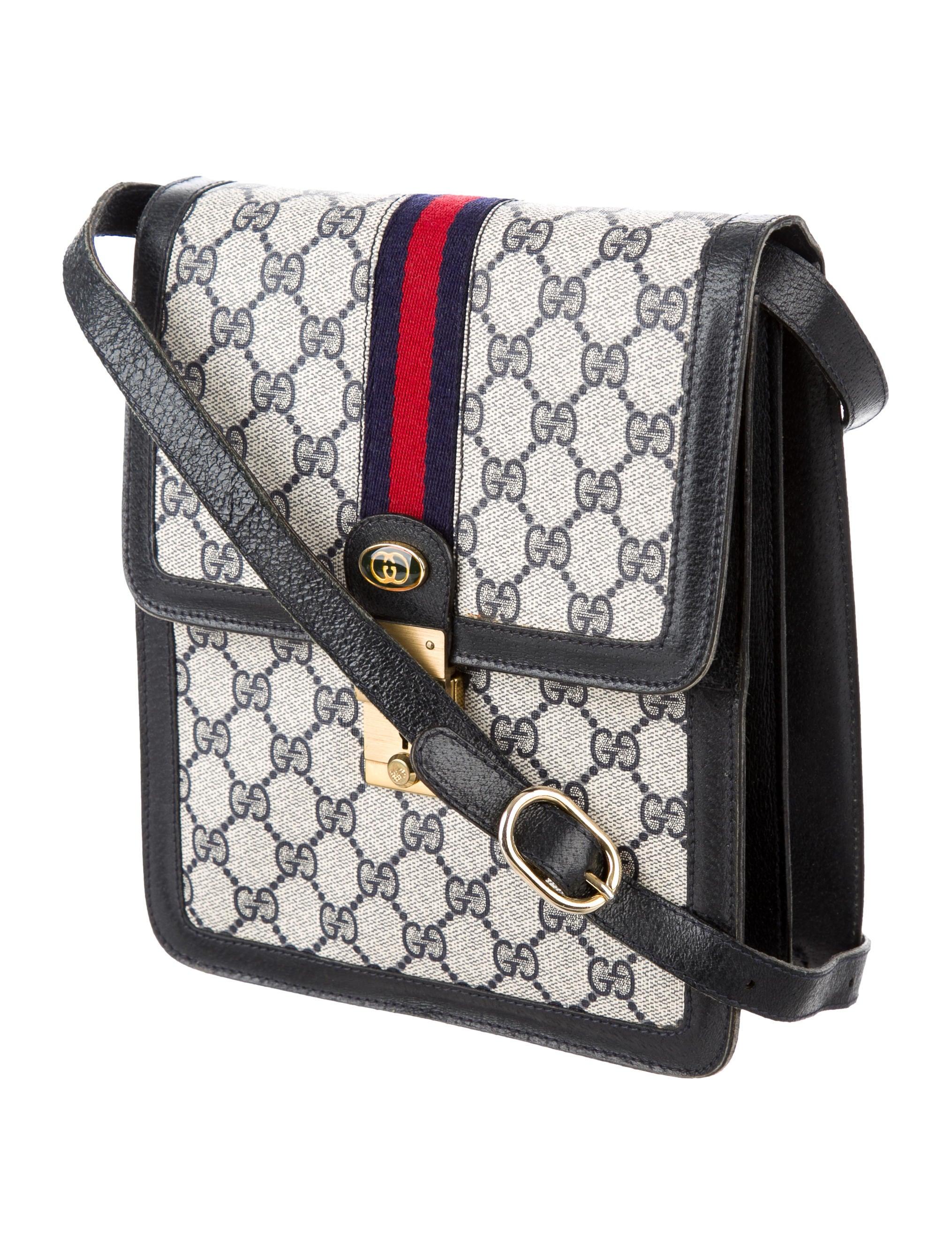 gucci vintage web shoulder bag