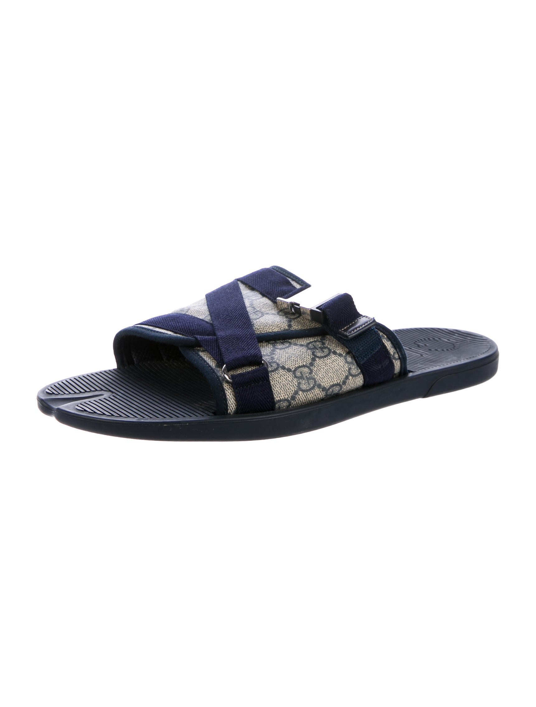 gucci gg canvas slide sandals shoes guc164704 the