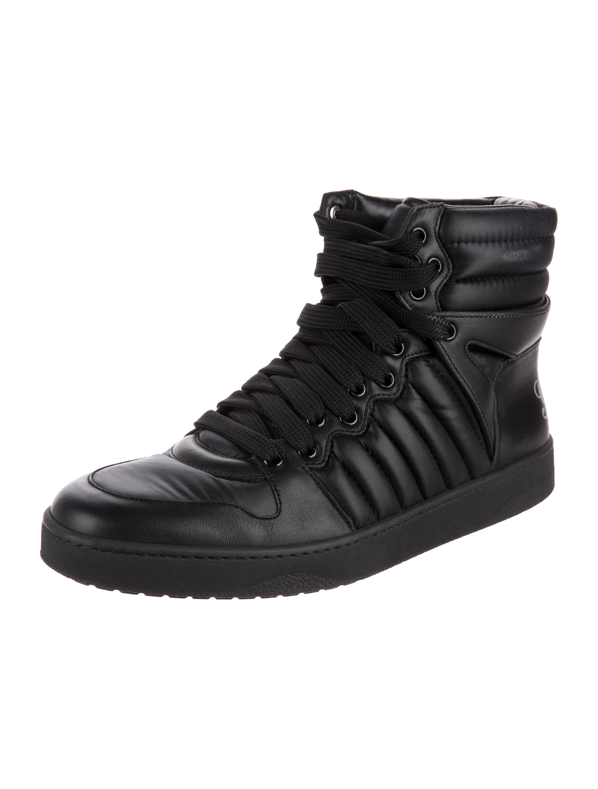 gucci leather high top sneakers shoes guc164724 the