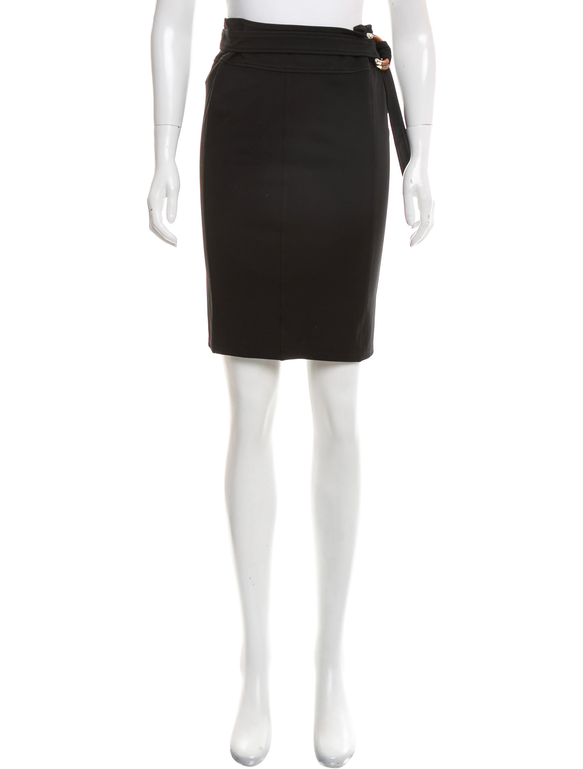 gucci belted pencil skirt clothing guc164729 the