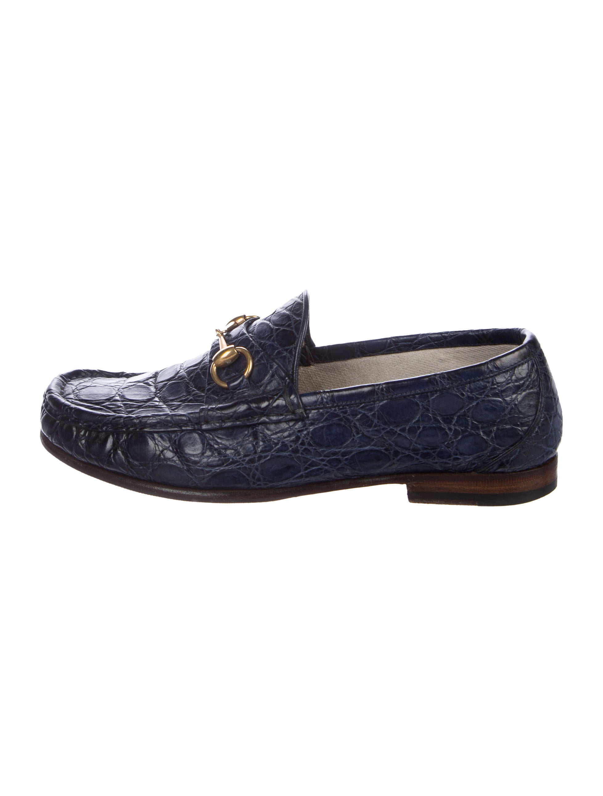 cef134ad9c2 Gucci 1953 Crocodile Horsebit Loafers - Shoes - GUC164866