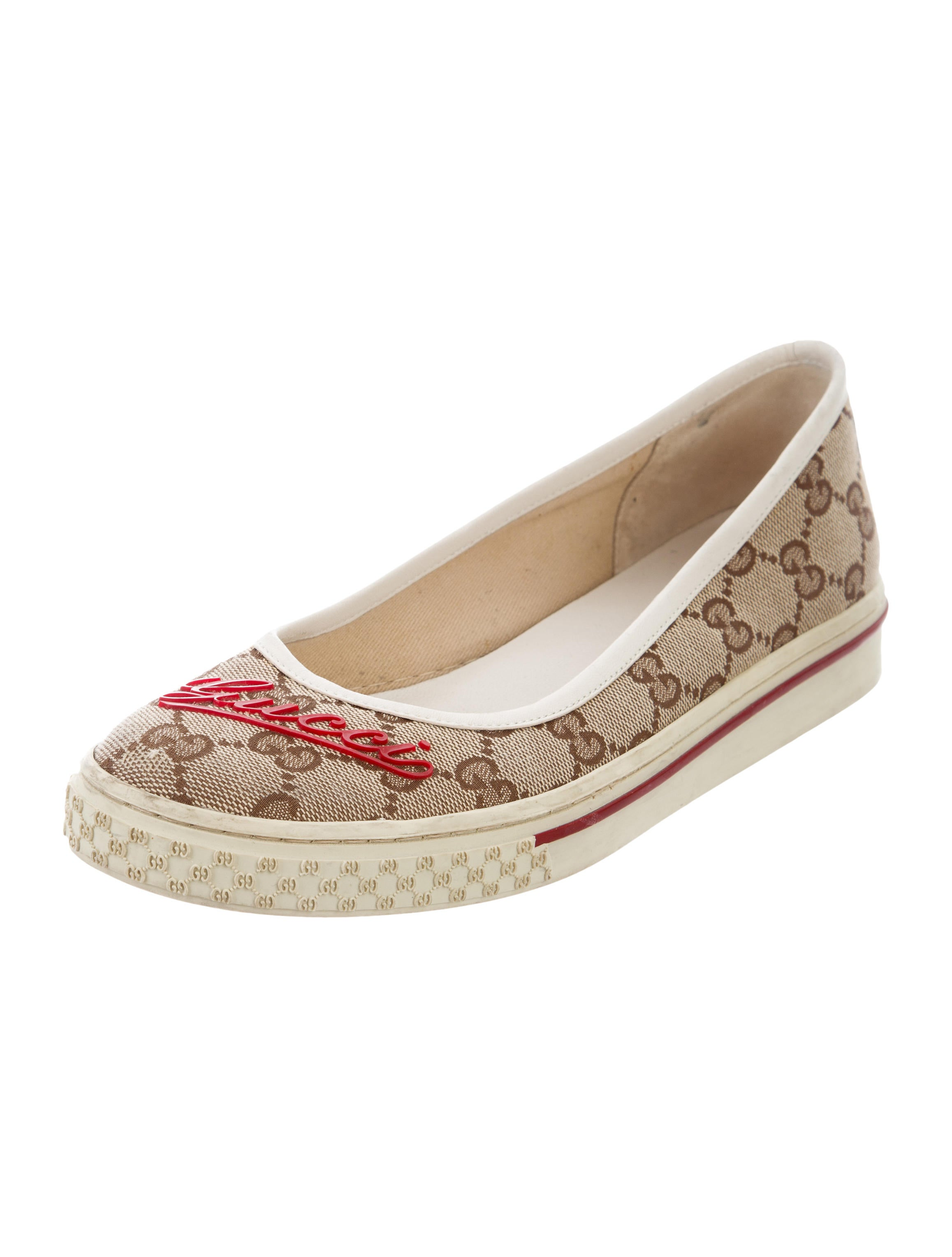 gucci gg canvas flats shoes guc164895 the realreal