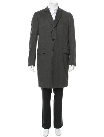 Gucci Cashmere Notch-Lapel Overcoat None