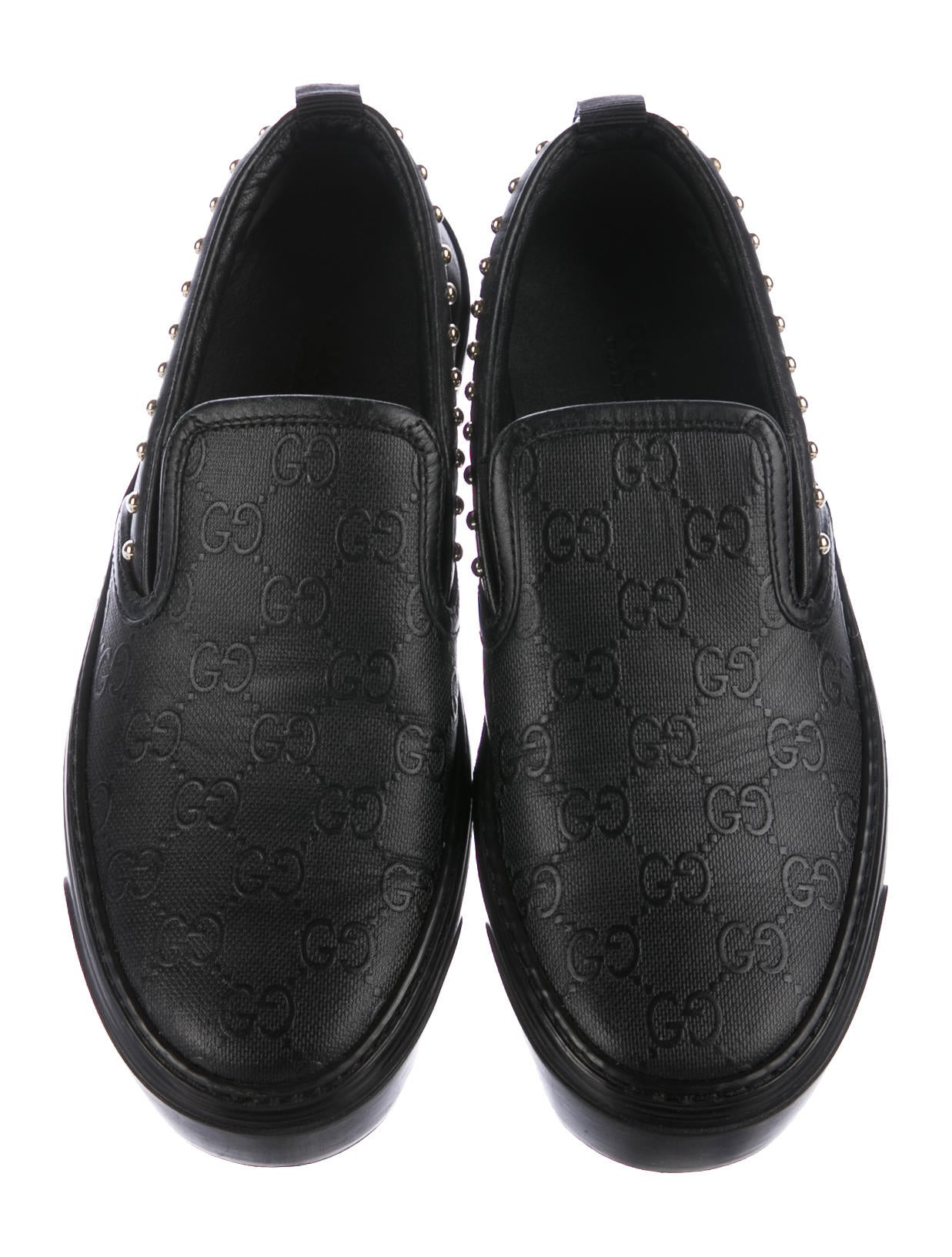 Gucci Guccissima Slip-On Sneakers - Shoes - GUC165065 | The RealReal