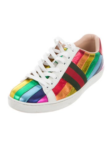 gucci shoes rainbow. gucci 2017 ace rainbow sneakers shoes