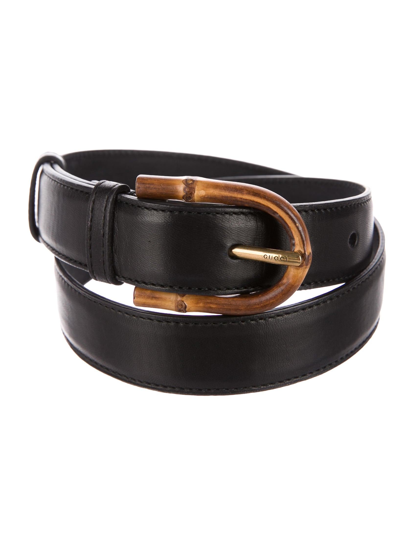 575a8c50ec0 Gucci Leather Bamboo Buckle Belt - Accessories - GUC165404