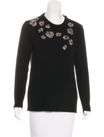 Gucci Cashmere Embellished Sweater None