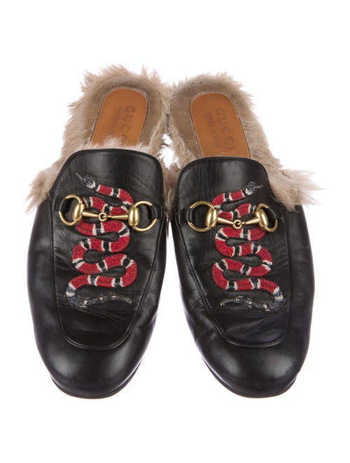 ca29689e3 Gucci Princetown Snake-Embroidered Slippers - Shoes - GUC165800 ...