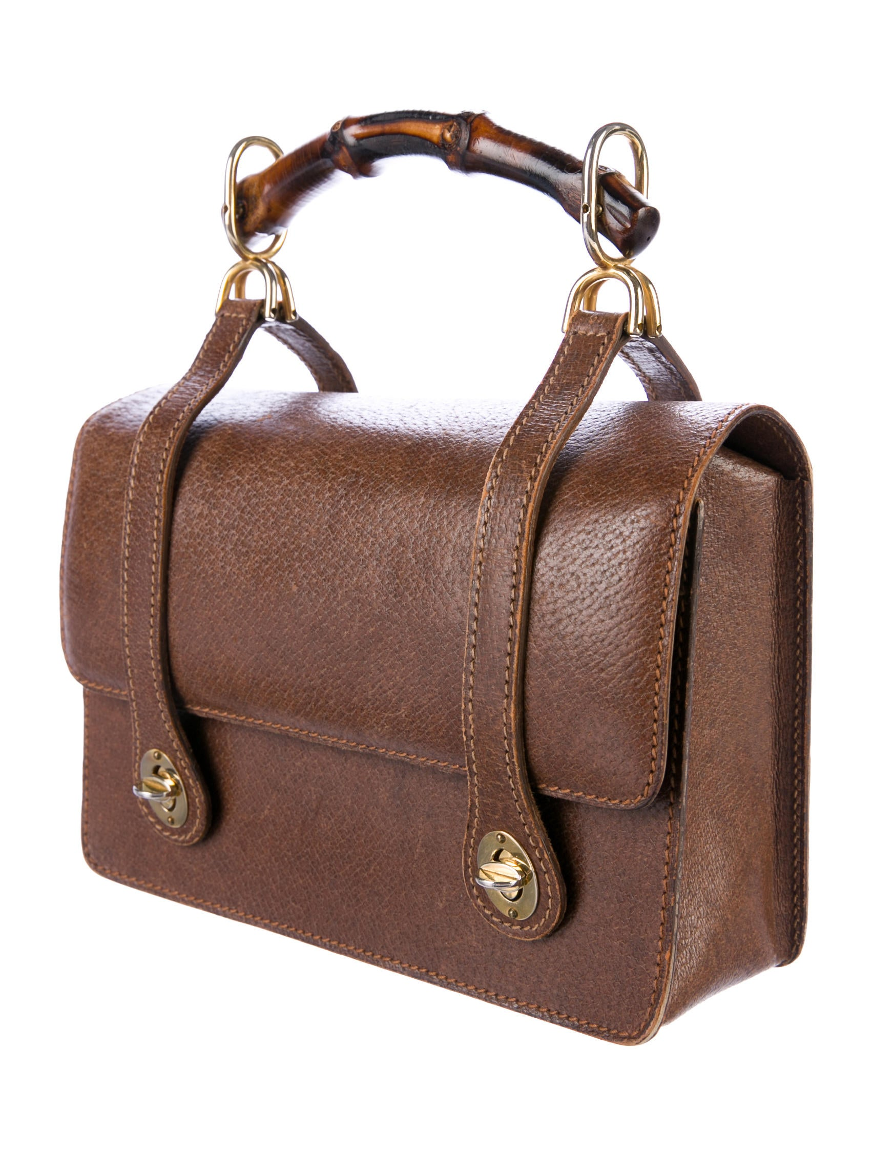 gucci vintage bags. vintage bamboo top handle bag gucci bags