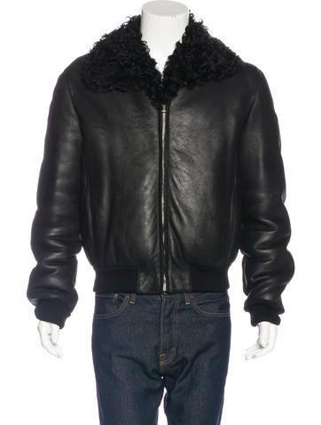 Gucci Shearling Bomber Jacket None