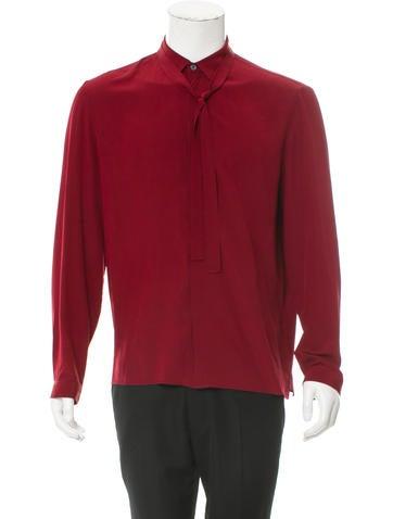 Gucci Silk Tie Shirt None