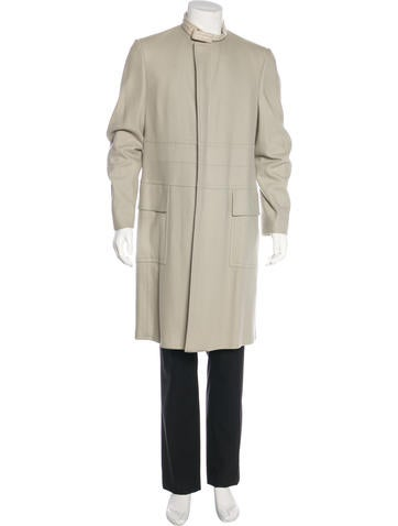 Gucci Leather-Trimmed Cashmere Coat None